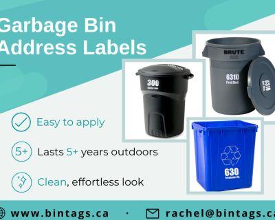 Custom Garbage Bin Address Labels