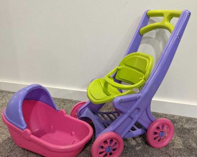 Baby doll stroller and car seat
