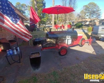 Custom-Built Open Barbecue Smoker BBQ Pit Tailgating Trailer