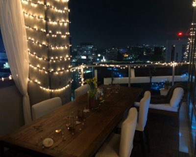 Outdoor Penthouse Sky Dining Terrace, Hollywood, CA