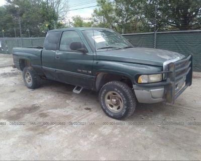 Salvage Green 1998 Dodge Ram 1500