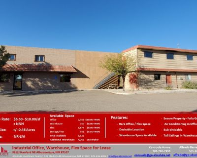 Industrial Office, Warehouse Flex Space for Lease