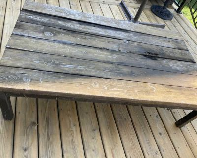 Rustic Wooden Patio Table