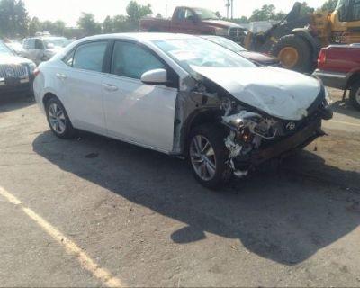 Salvage White 2015 Toyota Corolla