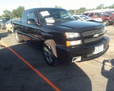 Salvage Black 2003 Chevrolet Silverado Ss