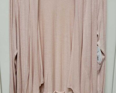 NWT Boutique+ Open-front Knit Overpiece; size 3X