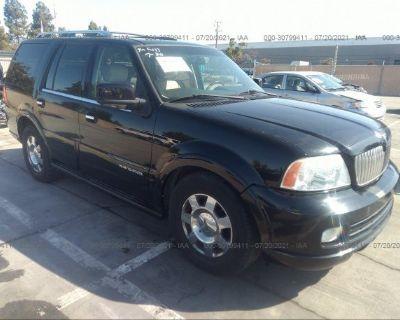Salvage Black 2006 Lincoln Navigator