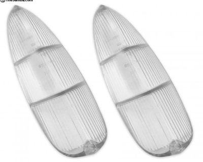 New Type 3 Clear Flat Tail Light Lenses Pair