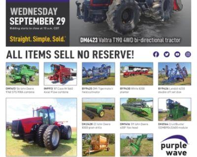 September 29 ag equipment auction