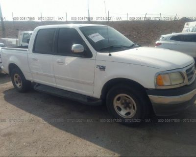 Salvage White 2002 Ford F-150