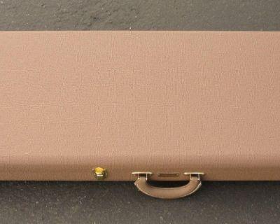 Fender CUSTOM SHOP Stratocaster Case - Brown W/ Gold Poodle Interior - BRAND NEW