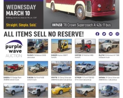 March 10 vehicles and equipment auction