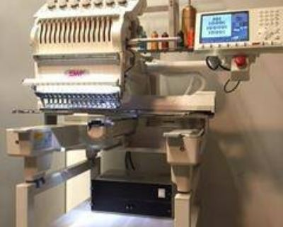 SWF 1501C Single Head Embroidery Machine, Perfect Condition