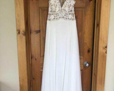 Beautiful Illusion size 10 wedding dress