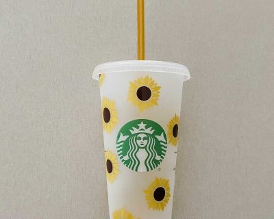 Sunflower Starbucks Cold Cup