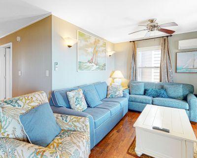 Oceanfront Happy House Duplex w/ Ocean View, WiFi, W/D & Direct Beach Access! - North Ocean City