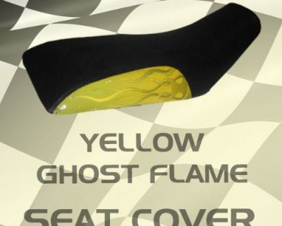 Polaris Trailboss Xpedition 96-99 Yellow Ghost Flame Seat Cover #ksl15630 Sbn7