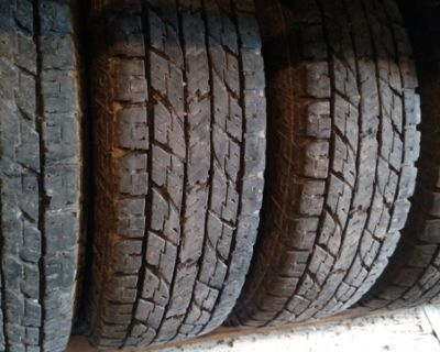 245-75-17 LT 10 ply geolander yokohama tires 3/4 tread set