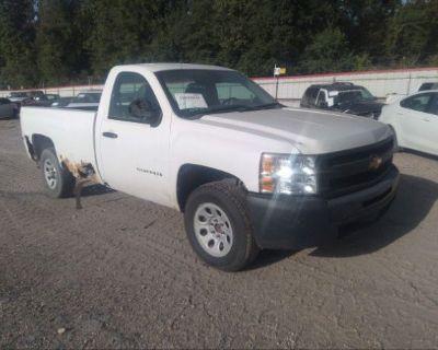 Salvage White 2012 Chevrolet Silverado 1500