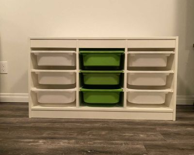 IKEA Storage with boxes