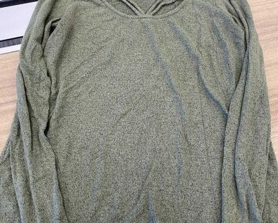 Super soft green long sleeve top sz small