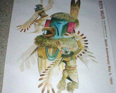 Fred Cleveland Art Print - BIEN MUR Indian Market 9th Anniv. May 1984