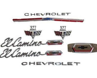 65 El Camino 282, 327 Or 350 Emblem Kit