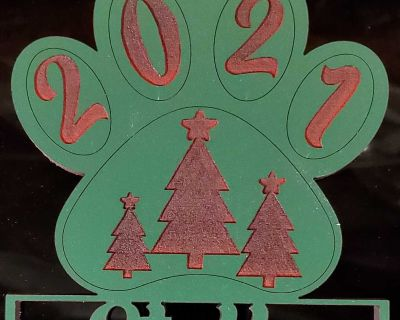 Custom Wooden Christmas Tree Pet Ornaments for Christmas 2021