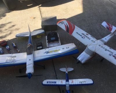 Model airplanes and equipment