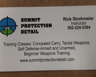 CONCEALED CARRY TRAINING CLASS