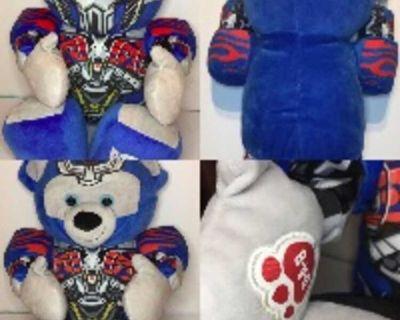 Transformers Optimus Prime Plush Reversible Face Mask Bear w/ Sound