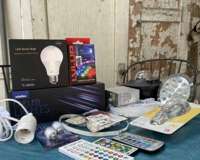 LED Lightbulbs, pendent sockets, LED Strips and Connectors