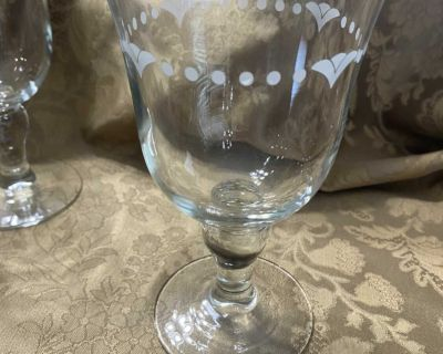 Princess House special edition goblets