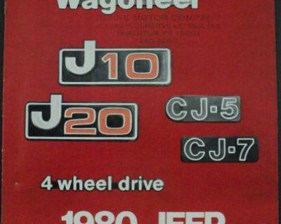 1980 Jeep Cherokee Wagoneer J10 J20 Cj-5 Cj-7 Accessories Brochure